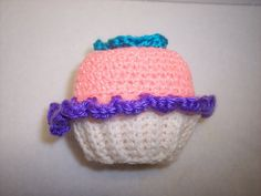 Crocheted Cupcake Pincushion Peach Frosting with by AvocadoLane, $7.95