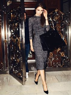 tweed dress is favored by older women, this timeless piece can make you look good at every age. Because of