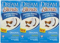 Dream Dream Blends - Original Chia - 32 oz - 3 pk >>> Check this awesome product by going to the link at the image. Lactose Free, Dairy Free, Gluten Free, Chia Drink, Antioxidant Vitamins, Vitamin E, Milkshake, Coffee Shop, Almond