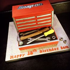 Snap on tool box cake                                                       …