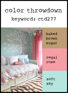 Color Throwdown: Color Throwdown #277Baked Brown Sugar, Regal Rose, Soft Sky