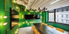 Opera Software office by mode:lina architekci, Wrocław – Poland Corporate Interiors, Office Interiors, Corporate Offices, Opera Software, Retail Software, Best Office, Green Wall Decor, Restaurants, House Trim