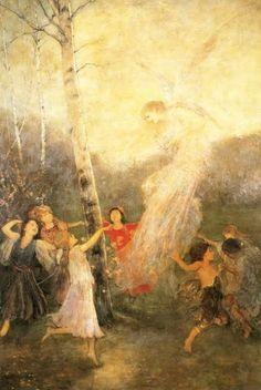 '' Joy ''by Nikolaos Gyzis (Greek [Munich School] Brush Effect, Greece Painting, Art Nouveau, Social Art, Pre Raphaelite, Greek Art, 10 Picture, Chiaroscuro, Fantastic Art