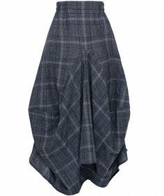 Grey Check Skirt