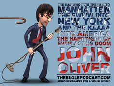 Design created for The Bugle (Audio Newspaper for a Visual World) - a fantastic weekly podcast by Andy Zaltzman and John Oliver. #chayground #podcast #thebugle #zaltzman #johnoliver