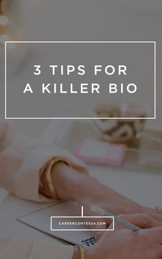 It can be hard to craft a bio that is personal, stands-out, and makes you the ideal candidate. Here are 3 steps to achieve that perfect professional bio. #CareerAdvice #CareerTip #PersonalBrand #PostGrad