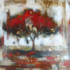 Painting by Heather Haynes at Crescent Hill Gallery #tree #art