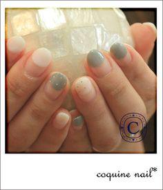 coquine nail* こそっとシルバードット。ネイル。