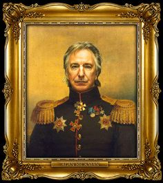 Alan Rickman by Steve Payne, creator of the Replaceface series, where Steve took digital copies of George Dawe's paintings of Russian generals and added celebrities faces to the portrait using Photoshop.