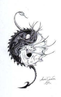Dragon Ying Yang by on DeviantArt - Dragon Ying Yang by LoneWol . - Dragon Ying Yang by on DeviantArt – Dragon Ying Yang by – - Yin Yang Tattoos, Dragon Yin Yang Tattoo, Dragon Tatoo, Dragon Tattoo Sketch, Tattoo Sketches, Chest Tattoo Drawings, Small Dragon Tattoos, Japanese Dragon Tattoos, Small Tattoos