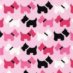 Scottie Dog fabric by Ann Kelle