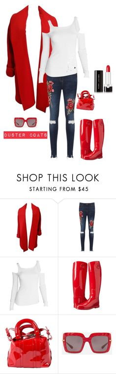 """""""The Duster Coat"""" by kotnourka ❤ liked on Polyvore featuring Versace, WearAll, Tom Ford, Armani Jeans, Carven, Dolce&Gabbana and Marc Jacobs"""
