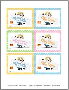 Despicable Me 2 Free Printable #Easter tags. #DespicableMe #minions