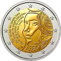 moneda conmemorativa 2 euros Francia 2015 Federación.