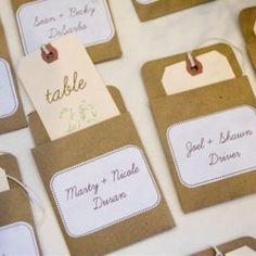 un plan de table différent : des escort cards !