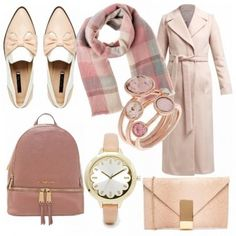 Outfit Pennellate di rosa