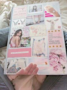 Diy binder cover from photos collaged together