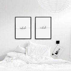 Inhale Exhale Print Bedroom Decor Wedding Gift Wall Art