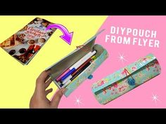 DIY Pouch |DIY Pencil Case - MissDebbieDIY - YouTube