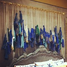 Tassels over the bed•☆