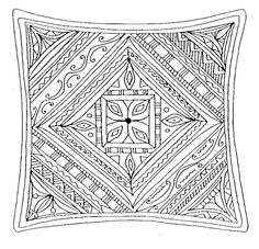 Square Mandala Mom Coloring Pages Abstract For Grown Ups