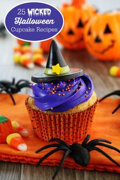 25 Wicked Halloween Cupcake Recipes - fun party treat ideas for kids!