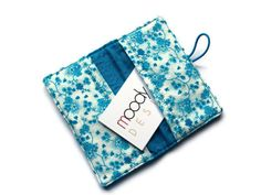 Business Card Wallet  40 cards  cotton fabric by moodycowdesigns, $12.00