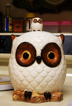 Napco Owl Cookie Jar by Retrograde Works, via Flickr