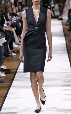 Double Wool Couture Dress by LANVIN Now Available on Moda Operandi