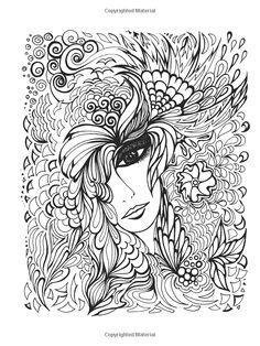 Fanciful Faces Coloring Book (Creative Haven): Miryam Adatto, Creative Haven: 9780486779355: Amazon.com: Books