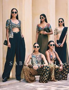 goals from Sabyasachi Weekend inspiration on modern tailoring and classy indian wear. In love with this fusion! Indian Fashion Trends, India Fashion, Asian Fashion Indian, Ethnic Trends, Indian Style, Fashion Fashion, Indian Attire, Indian Wear, Saris