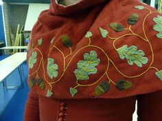 SCA Clothing-7 by elise_fleming, via Flickr  now that's a hood, in one of my favorite motifs too
