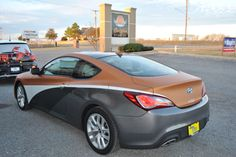 showing off the newest colors from Avery Dennison on this Hyundai by Car Wrap City www.carwrapcity.com