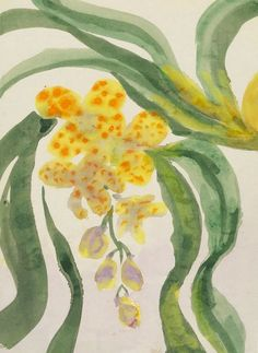 Orchid branch, c. 1925-1930 - Emil Nolde (1867–1956)