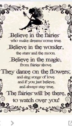 I always thought this to be true as a child. I don't know why I ever stopped believing in magic.