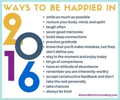 Would you like to be happier in 2016? Here are 14 strategies that will increase happiness. #happiness