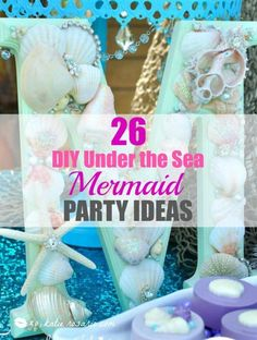 Who doesn't love mermaids?! This is genius! So perfect for kids birthday parties! Under the sea and the little mermaid as a party is awesome! So many DIY ideas that are easy and cheap. Which is even better since we done want to break our budgets throwing a mermaid party. I like the food, dessert, decorating, activity ideas! Love it saving it for later!