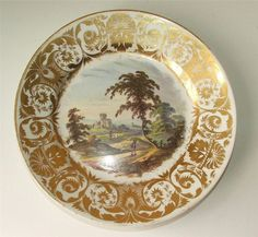 Antique c1790s Derby Porcelain Hand Painted Cabinet Plate In Germany