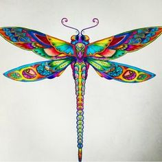 Dragonfly love ! #zentangle #patterns #doodle #dragonfly