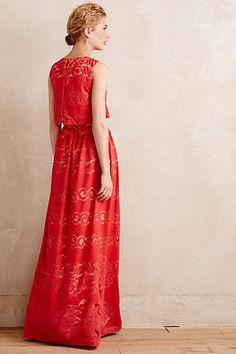 Coral Garden Maxi Dress - anthropologie.com