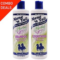 Mane 'n Tail Herbal Gro Shampoo & Conditioner Olive Oil Complex, Duo Set, 12 oz