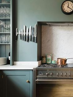This London kitchen is tranquil, calm, and sophisticated.