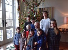 Royal Court of Denmark released a new photo of Queen Margrethe and Prince Henrik together with their eight grandchildren on Christmas Eve at  Marselisborg Palace in Aarhus.