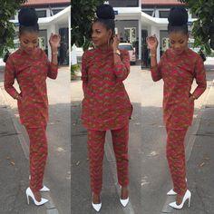 African Clothing - Dashiki Buba Set - Dashiki Print Pants and Top
