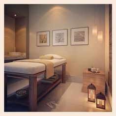 Beauty room salon, massage treatment, spa treatments, massage room decor, m Esthetician Room, Therapy Room, Massage Therapy Rooms, Salon Interior Design, Reiki Room, Treatment Room, Esthetics Room, Clinic Design, Spa Massage Room