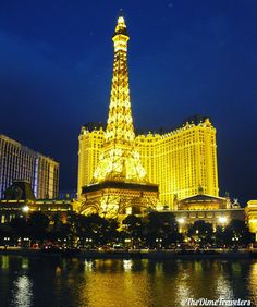 Paris Hotel and Casino in Las Vegas, Nevada ✈📸 Paris Hotels, Nevada, Las Vegas, Sunrise, Travel Photography, Skyline, Landscape, History, City