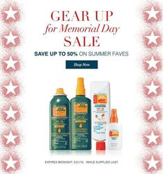 What a way to celebrate Memorial Day! An extra discount from AVON.