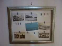 One big frame with little pictures inside, now I know what to do with my big empty frame!