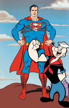 From http://supermantv.net/art/r-team-ups-43-superman-and-popeye-the-sailor-man-1901.htm Superman and Popeye