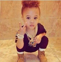 Baby Swag Girl: Nia Johns too cuteee(: So Cute Baby, Cute Little Girls, Cute Kids, Cute Babies, Baby Kids, Cute Mixed Babies, Cute Black Babies, Brown Babies, 3 Kids